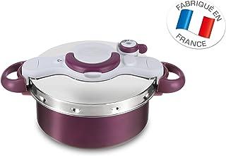 Tefal P4605100 - Olla a presión 2 in 1 y Cacerola con la Capacidad de 5 litros, Aluminio, Morado, 39 x 29.5 x 19 cm