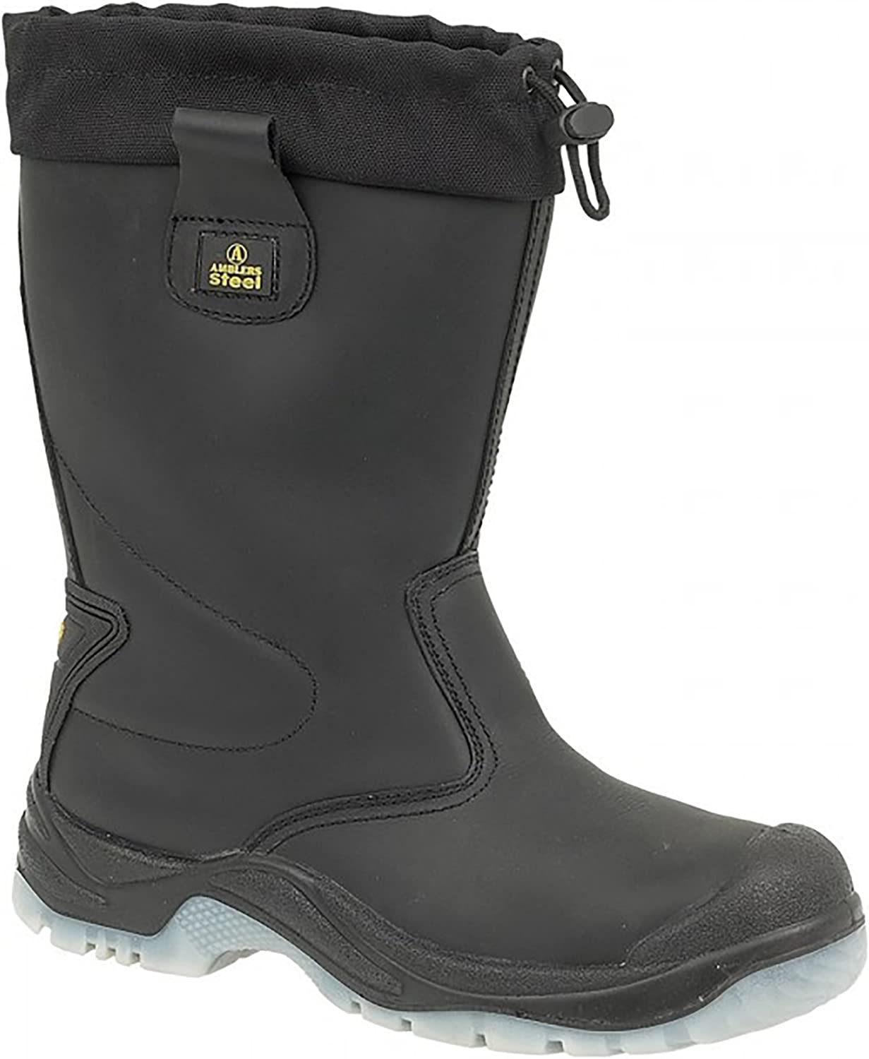 Amblers Steel FS209 Safety Pull On   Womens Ladies Boots   Riggers Safety (8 US) (Black)