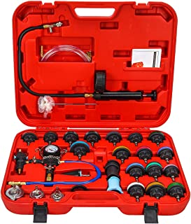 NA. 28pcs Universal Radiator Pressure Tester and Vacuum Type Cooling System Kit with Toolbox...