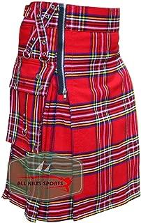Royal Stewart Heavy Tartan Gothic 16Oz Acrylic Wool Zipper Kilt
