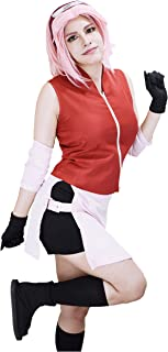 US Size Adult Shippuden Haruno Casual Cosplay Costume