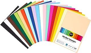 perfect ideaz 100feuilles de Cartonette DIN-A5 (148 x 210 mm), Papier à dessin, teinté dans la masse, en 20coloris diffé...