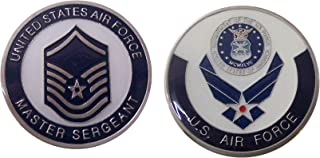 """Air Force ENLISTED RANKS - Master Sergeant """"E7'' Collectible Challenge Coin /Logo Poker / Lucky Chip/ Gift"""