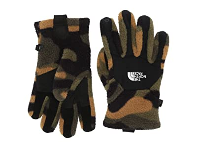 The North Face Kids Denali Etiptm Gloves (Big Kids) (Burnt Olive Green Woods Camo Print) Extreme Cold Weather Gloves
