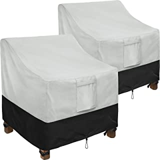 """Patio Chair Covers, 2 Pack Lounge Deep Seat Cover 30"""" W x 37"""" D x 31"""" H, Heavy Duty Lawn Patio Outdoor Furniture Covers Wa..."""