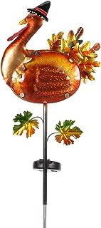 Moonrays 97030 Solar Harvest Turkey Stake Light, Weathered Orange