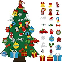 Appok Felt Christmas Tree for Toddlers - DIY Felt Xmas Trees with 35pcs Ornament Set for Kids - 3.5Ft Wall Hanging Felt Tr...