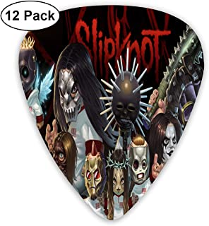 BeatriceBGault Slipknot Music Rock Guitar Picks (ABS 12 Pack,3 Specifications) for Electric Guitar Acoustic Guitar Mandolin and Bass
