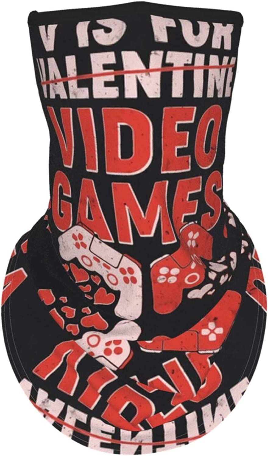 Ear Hangers Face Balaclava Funny V Is For Video Games Gaming Fan Black Protective Cover Wristband Bandanas Neck Gaiter Dust-Proof,Anti-Pungent Gas,Washable