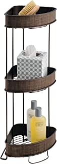 iDesign Twillo Metal Wire Corner Standing Shower Caddy 3-Tier Bath Shelf Baskets for Towels, Soap, Shampoo, Lotion, Accessories, Bronze