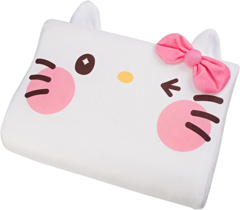 Sanrio Yurukawa Hello Kitty White Foam Pillow