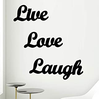 AJANTA ROYAL Live Love Laugh MDF Plaque Cutout Ready to Hang Home Décor Wall Art