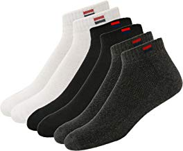 NAVYSPORT Men's Cotton Solid Ankle Socks, Pack of 3 (Multi-Coloured)