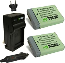 Wasabi Power NB-13L Battery (2-Pack) and Charger for Canon PowerShot G1 X Mark III, G5 X, G7 X, G7 X Mark II, G9 X, G9 X Mark II, SX620 HS, SX720 HS, SX730 HS, SX740 HS