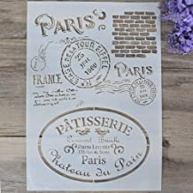 DIY Decorative Paris Stencil Template for Painting on Walls Furniture Crafts (A4 Size)