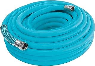 Aqua Joe AJPGH50-DWS 5/8 in 50 Ft. Hybrid Polymer Flex Kink Free Hose, Drinking Water Safe