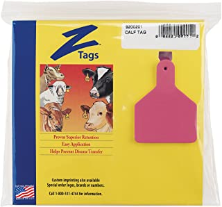 Z Tags 25 Count 1-Piece Blank Tags for Calves, Pink