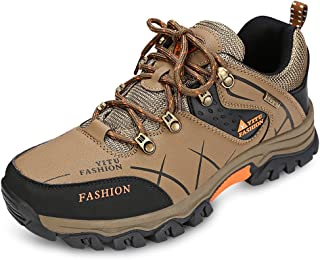 KCatsy Male Professional Hiking Shoes Low-Cut Lace-up Patchwork Skid-Resistant Sneakers