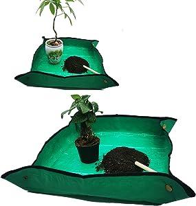 2PCS(39.3'',26.8'') Plant Waterproof Repotting Square Mats,Foldable Garden Transplanting Work Cloth Mat,Portable Gardening Mat,Indoor Succulent Potting Mat(39.3
