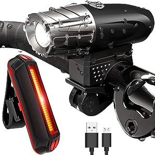 Sendowtek Luces Bicicleta Delantera y Trasera, Luz Bicicleta Recargable USB, Linterna Bicicleta IPX5 Impermeable con 4 Mod...
