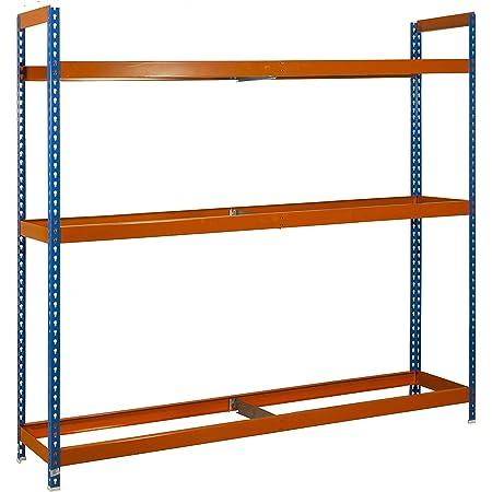 Estantería metálica para ruedas Autoforte 3 estantes Azul ...