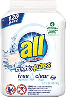all Mighty Pacs Free& Clear Laundry Detergent (120 ct.)