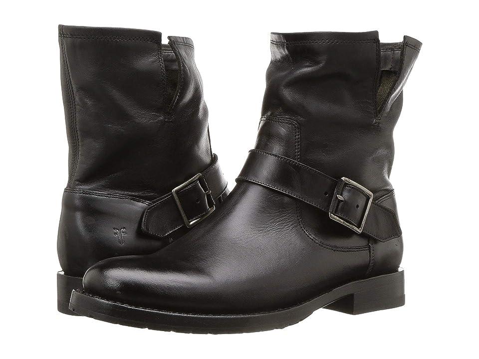 Frye Natalie Engineer Short (Black) Cowboy Boots