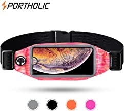 Running Belt, Exercise Fanny Pack For iPhone XS / XR/ 6/7/8 Plus, Samsung and other Smart Phones- Bounce Free Reflective Workout Waist Bag for Hiking Running Fitness- Sports Pouch for Men/Women