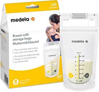 Medela Breast Milk Storage Bags | 180ml 50 in a Pack | Freezer Safe | Resealable | Ideal for breastmilk | Breast Pump Acce...