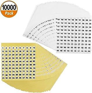 Número de 10000 Etiquetas Adhesivas Redondas Etiquetas Autoadhesivas Pequeñas Inventario Organización Etiqueta Adhesiva Impermeable (50