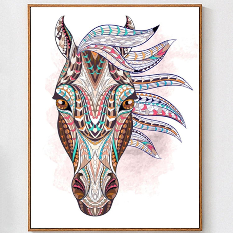 QIANDD Kreuzstich Diamant Stickerei Diamant Malerei Tier Pferd Pferd Pferd Home Dekoration,6075cm B07F3Y7F41   Wirtschaft  e4bd57