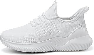 أحذية التنس النسائية للمشي من Meannic - أحذية رياضية كاجوال خفيفة للغاية من الإسفنج الذكي للركض والسفر, (1- أبيض), 39 EU