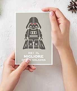 Biglietto San Valentino uomo per lui Festa del Papà Star Wars italiano Biglietti auguri feste del papà guerre stellari