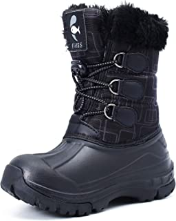 Snow Boots for Girls Boys Outdoor Kids Winter Waterproof Lightweight Warm Booties Shoes