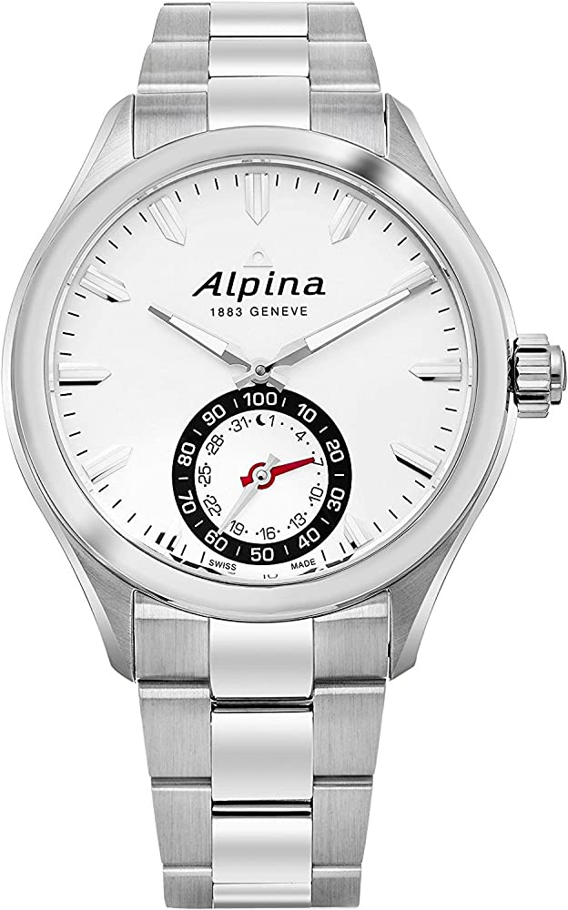 Alpina orologio analogico da uomo in acciaio inossidabile AL-285S5AQ6B
