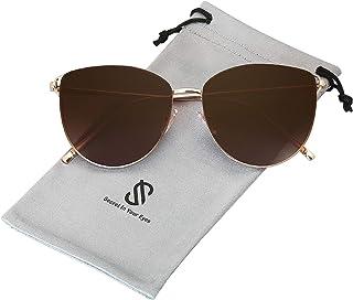 Mirrored Flat Lens Fashion Sunglasses for Women SJ1085