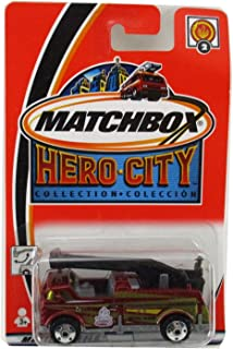 Matchbox 2001 Bucket Fire Truck #2 Hero City Collection Engine