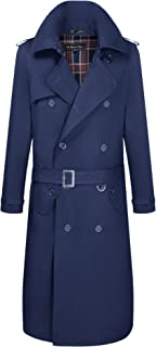 navy blue mac coat mens
