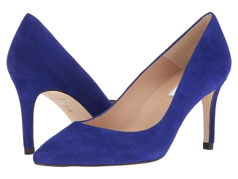 L.K. Bennett Floret (Ultra Blue Suede) High Heels