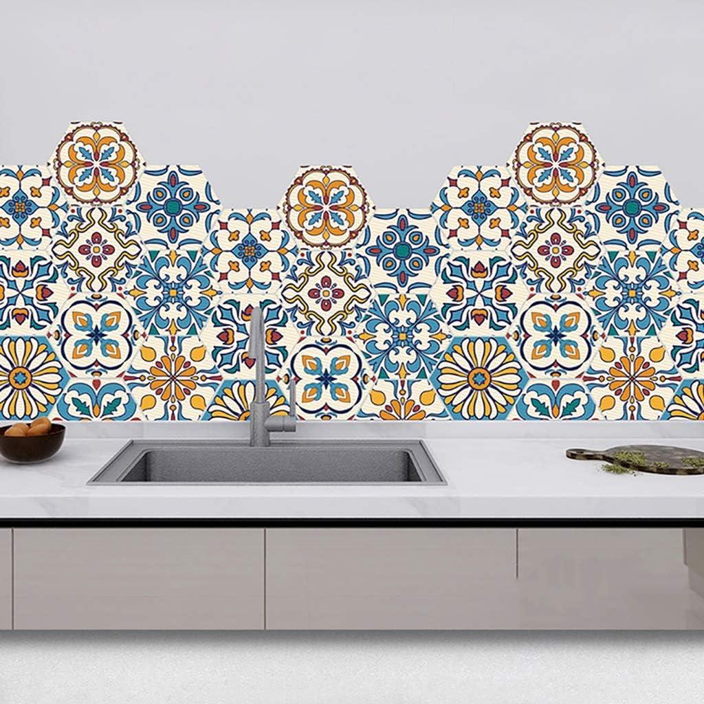 GaoYunQin Cheap mail order shopping Hexagon Sticker Floor Tile Rapid rise Room Living