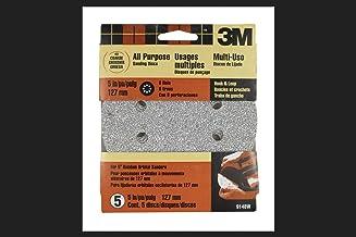 """3m Sanding Disc Hook&Loop 5"""" 40grit Fits Many Brands of 5"""" Orbital Sanders Card of 5"""
