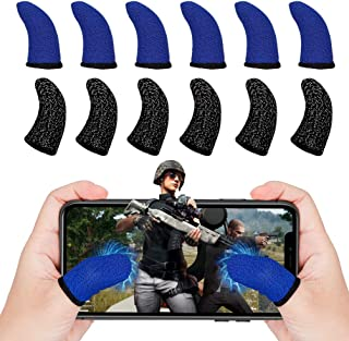6Pcs Mobile Game Controller Finger Sleeves, Breathable Anti-Sweat Gaming Finger Cot for PUBG/Call of Duty Sensitive Touch ...
