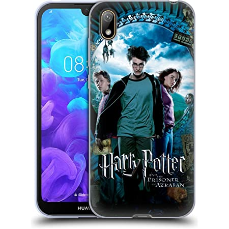 Officiel Harry Potter Ron, Harry & Hermione Poster Prisoner of Azkaban IV Coque en Gel Doux Compatible avec Huawei Y5 (2019)