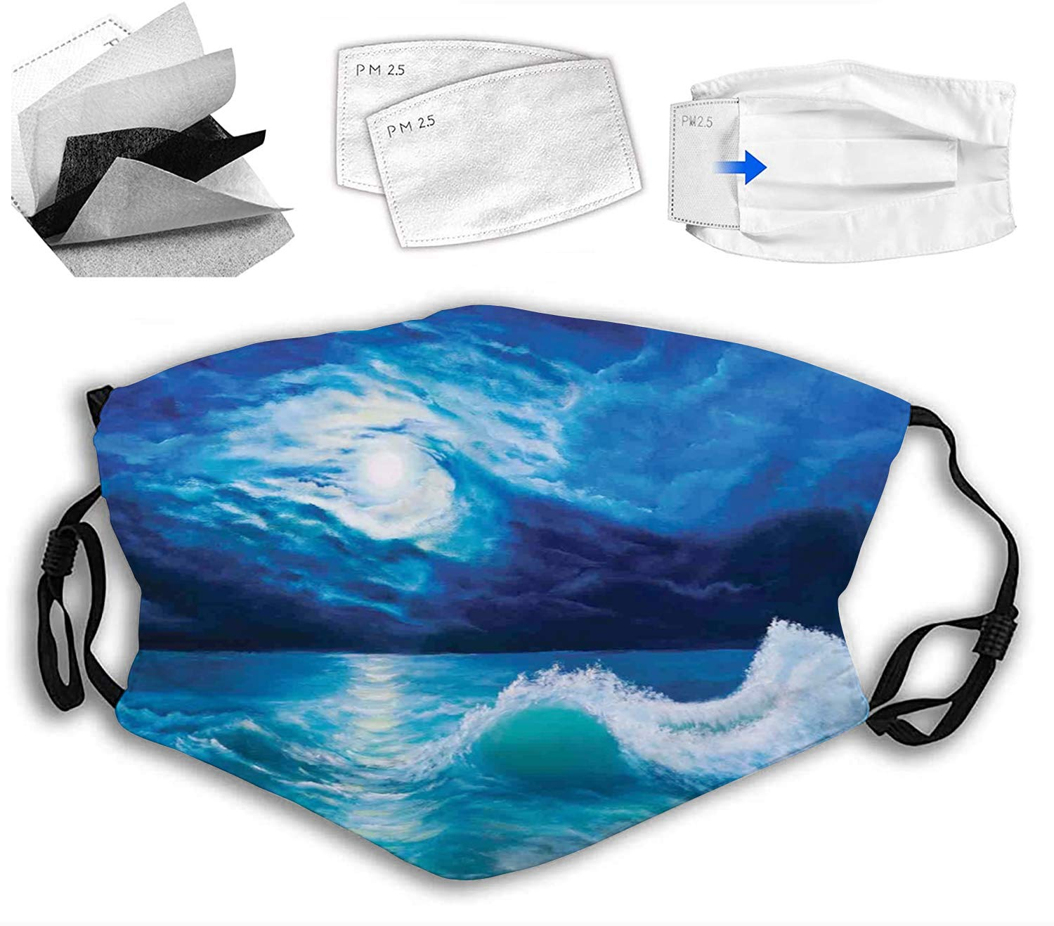 Face Limited price Cloth half Mask Comfortable Breathable Safety Wav Over Moonlight