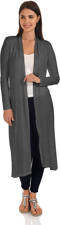 DFF Shop Women's Long Sleeve Full-Length Open Cardigan (Size: S- 5X)