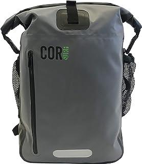 COR Surf Waterproof Backpack With Padded Laptop Sleeve, 40 Liters, Grey