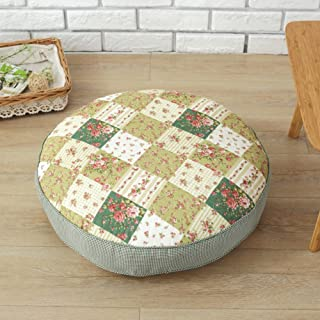 WJT@YX Yoga Meditation Rustic Seat Cushion, Tatami Seat pad Polyester Fabric Chair Pads Floor Cushion Futon Backrest Pillow Car Cushion Pp Cotton-E 55x55x10cm(22x22x4inch)