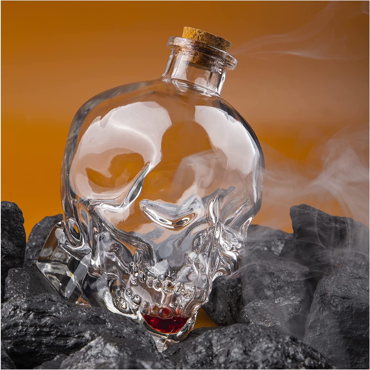 VOSOL 750ml Skull Whiskey Bottle Decanter Beauty products B Mail order cheap Glass Creative