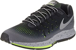 Men's Air Zoom Pegasus 33 Shield, Black/Metallic Silver-Dark Grey-Stealth, 10 M US
