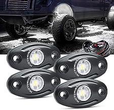 Rock Light Kits Teochew-LED 6 Pods Underglow Lights Cree Rock Lights Wheel Well Lights with Wiring Harness for Truck Jeep SUV ATV UTV 4X4 Boat
